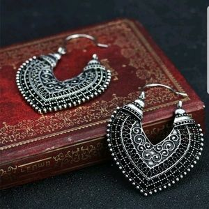 Jewelry - Fashion Vintage Silver Plated Earrings